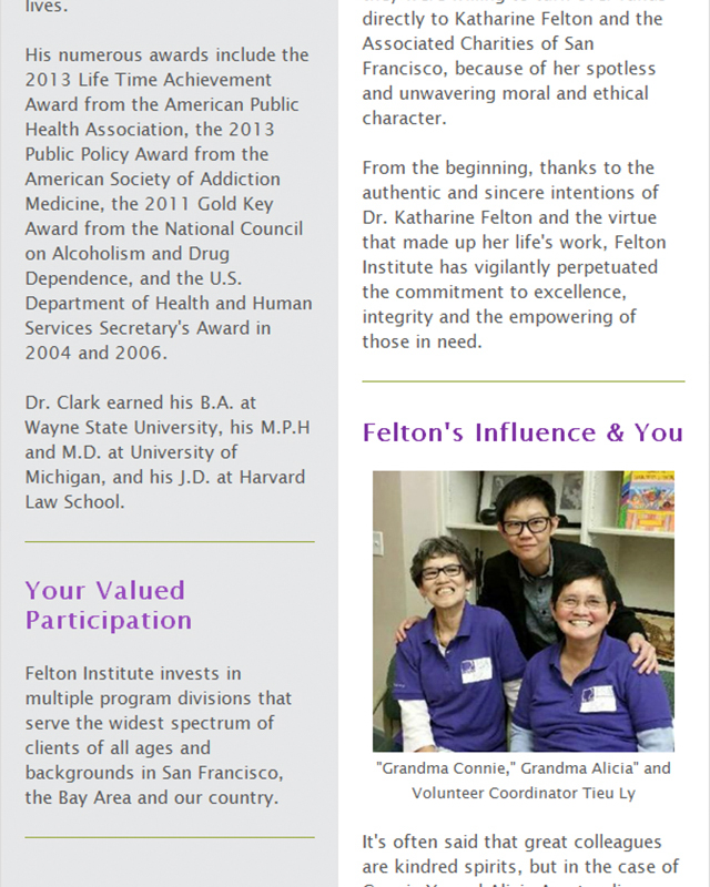 Felton Institute September 2016 Newsletter section 9