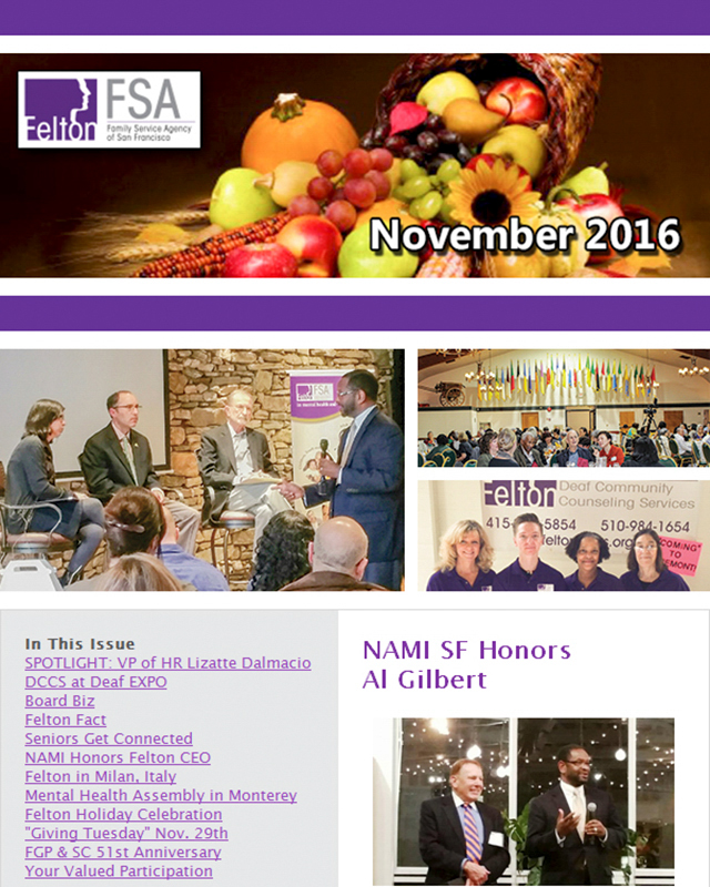 Felton Institute November 2016 Newsletter section 1.