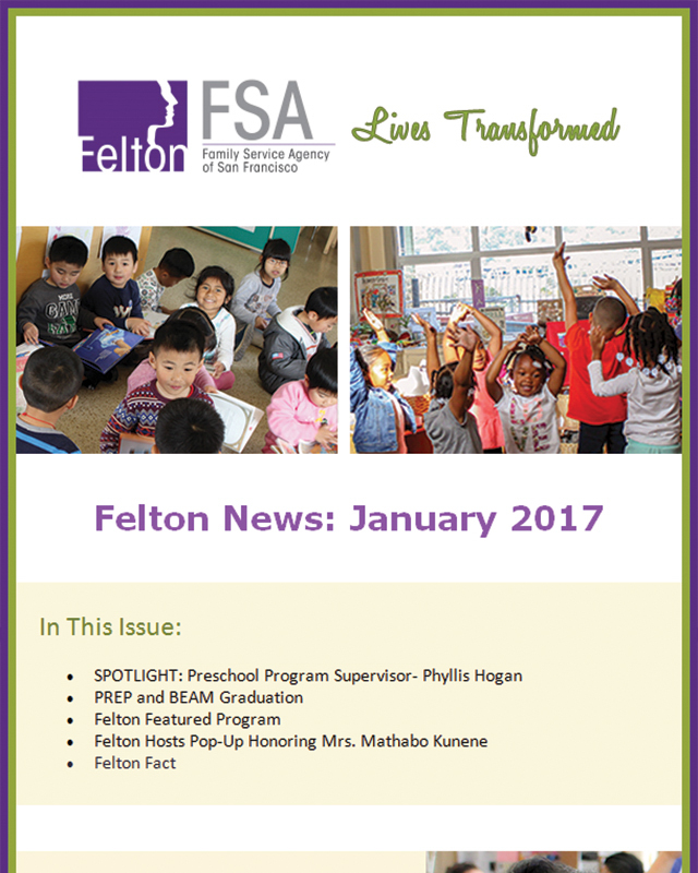 Felton Institute Newsletter - January 2017 - Section 1.